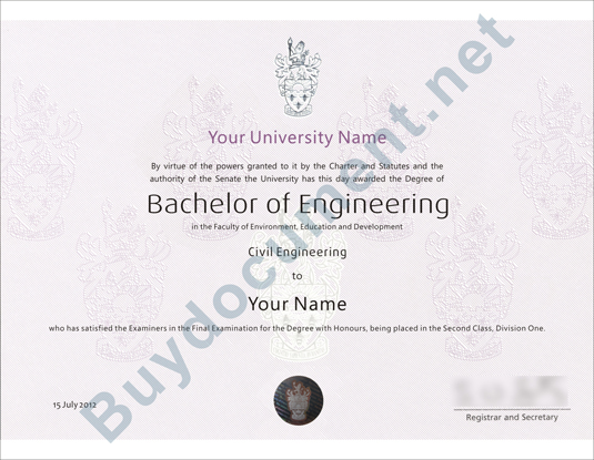 United Kingdom University Diploma/Degree