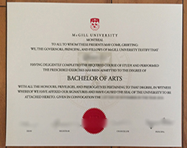 buy McGill University fake diploma from Montreal