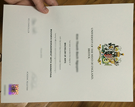 University of the West of England(UWE) diploma sample, buy fake degree in Leeds