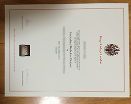 fake King's College London diploma order
