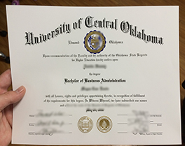 University of Central Oklahoma diploma sample, buy USA fake degree