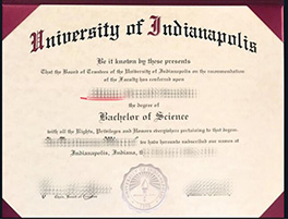 University of Indianapolis diploma sample