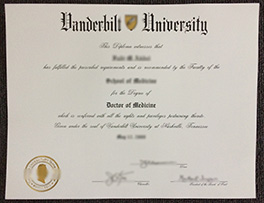 buy Vanderbilt University fake certificate