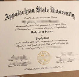 reproduce Appalachian State University diploma