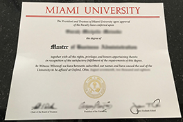 Where to Buy Fake Miami University Diploma&Transcript?