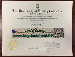 Fast to Get University of British Columbia/UBC Fake Degree Replacement