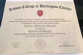 How To Get Rowan College at Burlington County fake certificate