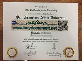 Buy Fake San Francisco State University (SFSU) Diploma Certificate