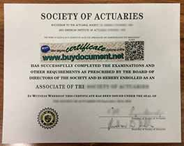 where to make Society of Actuaries fake certificate