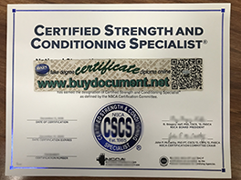 Buy Fake Certified Strength and Conditioning Specialists (CSCS) Certificate