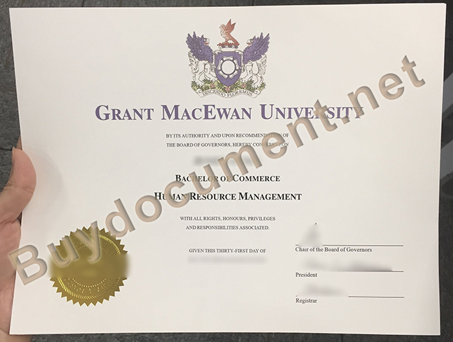 fake Grant MacEwan University diploma, Grant MacEwan University degree sample