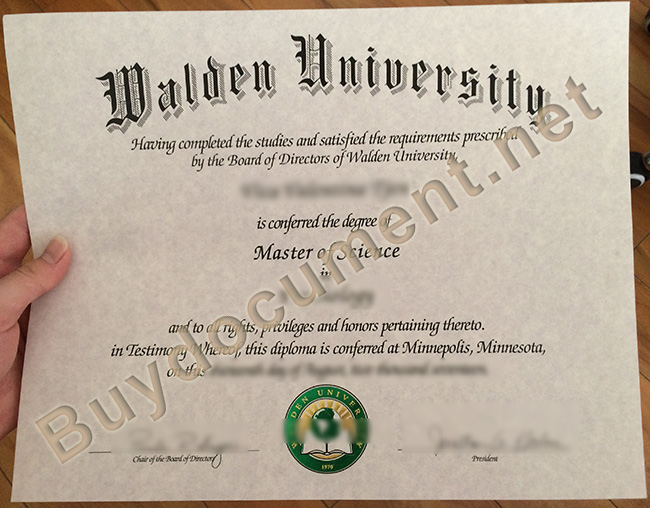 Walden University degree sample, buy Walden University fake diploma