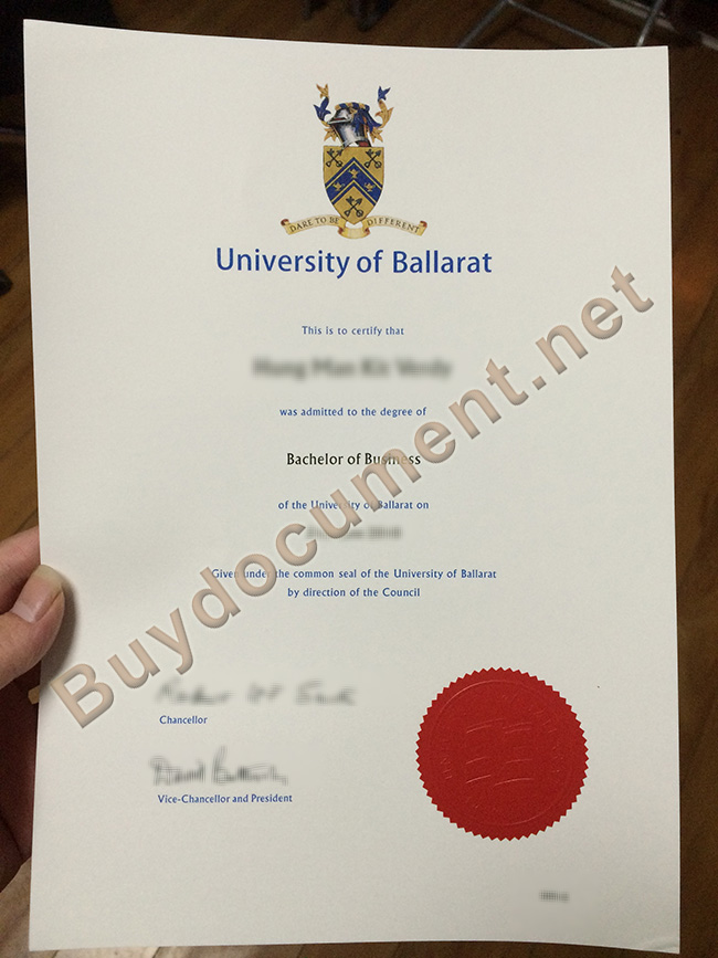 University of Ballarat diploma, University of Ballarat degree