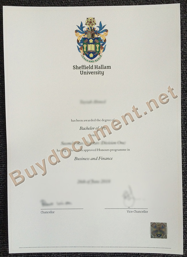 Sheffield Hallam University diploma, Sheffield Hallam University degree