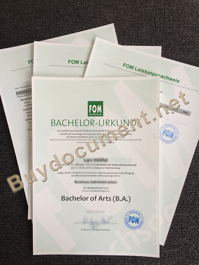 FOM degree, FOM fake diploma