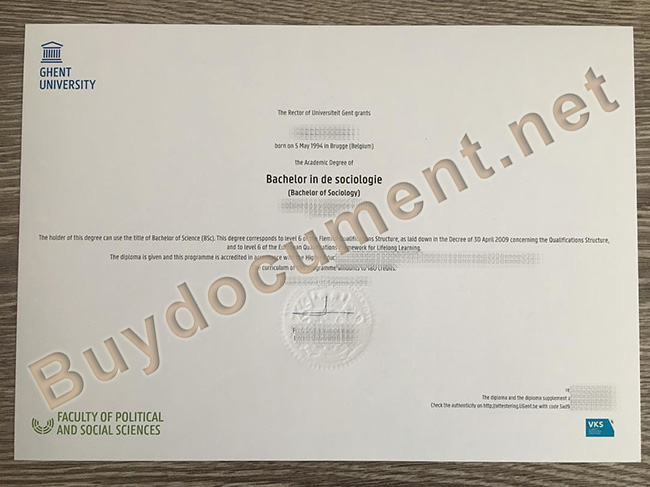 Ghent University diploma, Ghent University degree
