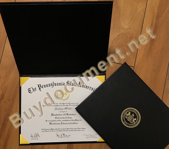Pennsylvania State University leather cover, Pennsylvania State University diploma