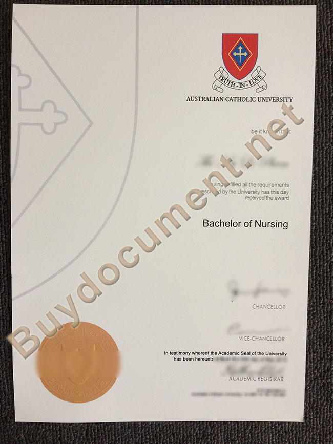 Australian Catholic University diploma, buy fake degree