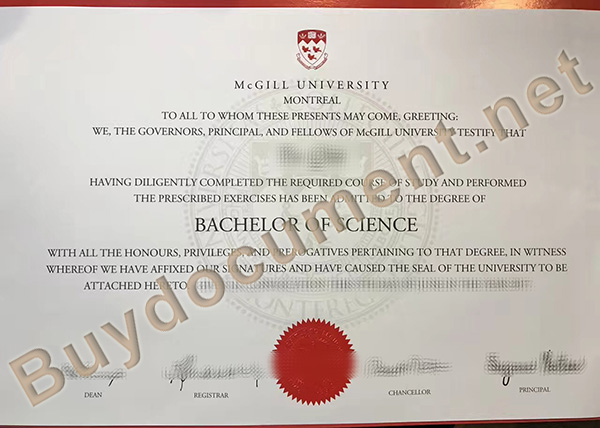 buy fake diploma, McGill University diploma order