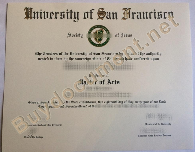 University of San Francisco diploma, fake University of San Francisco degree, buy fake diploma online