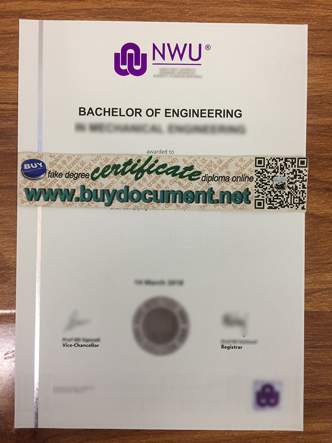 North-West University diploma, North-West University degree, buy fake certificate