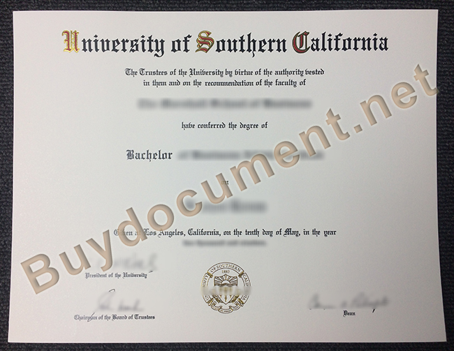 University of Southern California diploma, University of Southern California degree, buy fake certificate