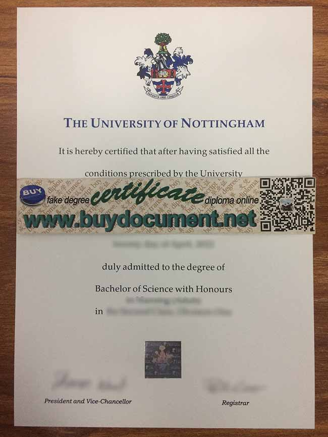 University of Nottingham diploma, University of Nottingham degree, buy fake certificate