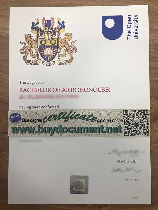 Open University diploma, UK Open University degree, buy fake diploma, fake certificate maker