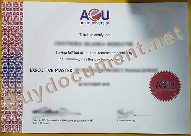 Asia E university diploma, fake Asia E university degree, buy fake certificate