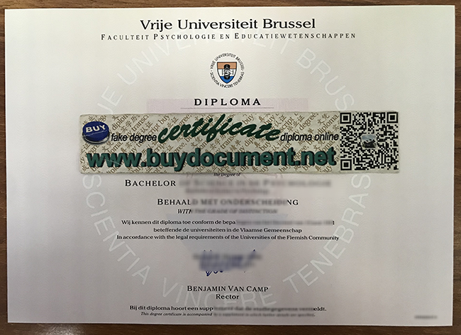 Vrije Universiteit Brussel fake diploma, Vrije Universiteit Brussel degree, buy fake VUB degree